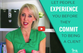 HERE'S A WAY TO LET PEOPLE EXPERIENCE HOW VALUABLE YOU ARE